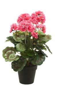 Bilde av Kunstig Geranium Rosa i Potte 35cm