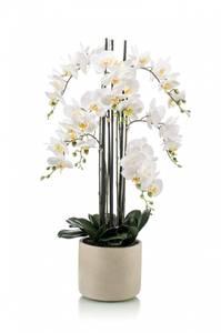 Bilde av Kunstig Orkide Hvit i Keramikkpotte 100cm