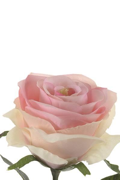 "Kunstig Rose ""Simone"" Lyserosa 45cm"