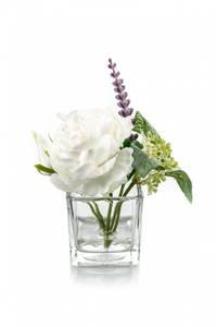Bilde av Blomsterdekorasjon i Glass Kremhvit 11cm