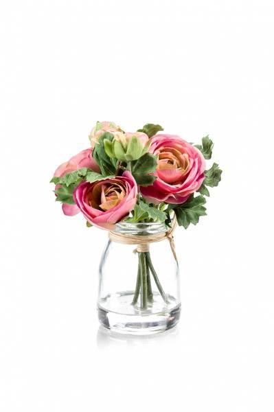 Ranunculus Rosa i Glass 15cm