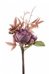 Bilde av Kunstig Rose/Hortensia Stilk Lilla 28cm