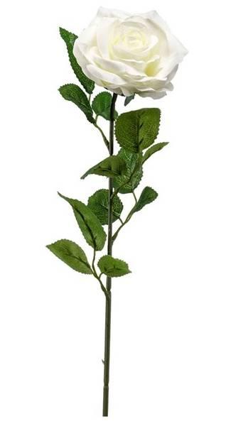Kunstig Rose Marleen Kremhvit 63cm
