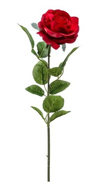 Kunstig Rose Marleen Rød 63cm