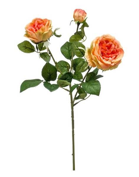 Kunstig Rose Gren Oransje 58cm