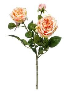 Bilde av Kunstig Rose Gren Fersken/Rosa 58cm