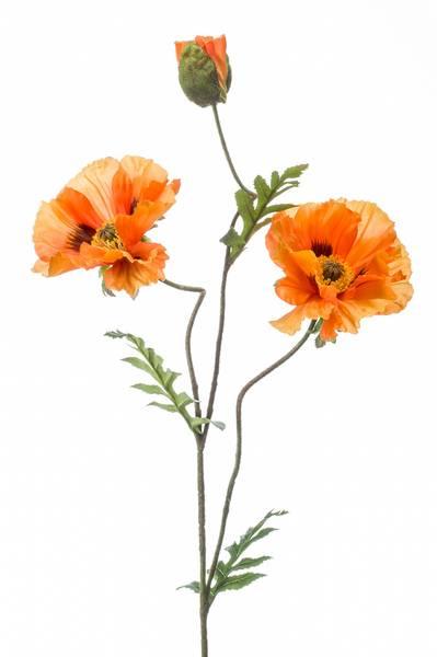 Kunstig Valmue Stilk Oransje 90cm