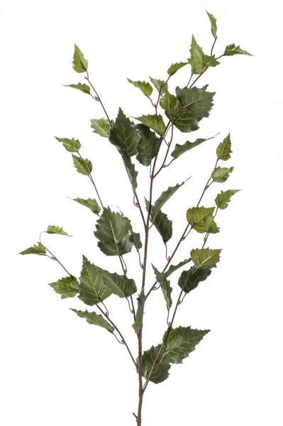 Kunstig Bjørkeblad gren 95cm