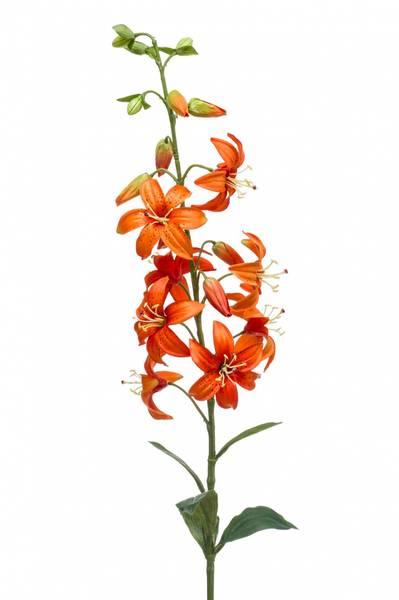 Kunstig Lilje Stilk Oransje 93cm