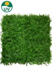 Bilde av Kunstig Bregne/Tuja Plantevegg Matte UV 50x50cm
