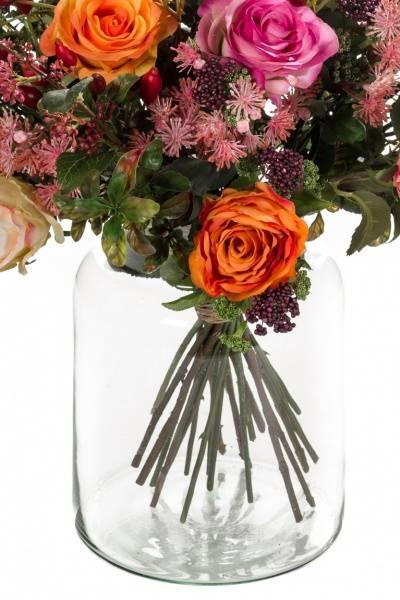 """Kunstig Blomsterbukett """"Flame Roses"""""""