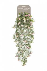 Bilde av Kunstig Hengende Roser Kremrosa 75cm
