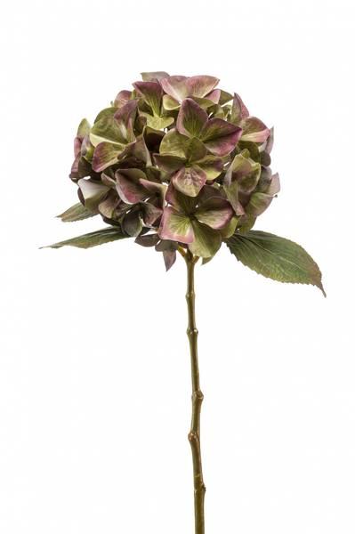 Kunstig Hortensia Stilk Grønnlilla 47 cm