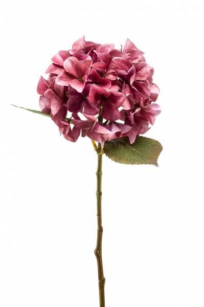 Kunstig Hortensia Stilk Mørk Rosa 47 cm