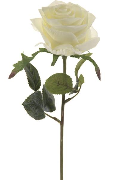 "Kunstig Rose ""Simone"" Hvit 45cm"