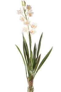 Bilde av Kunstig Cymbidium Orkide Kremhvit 90cm