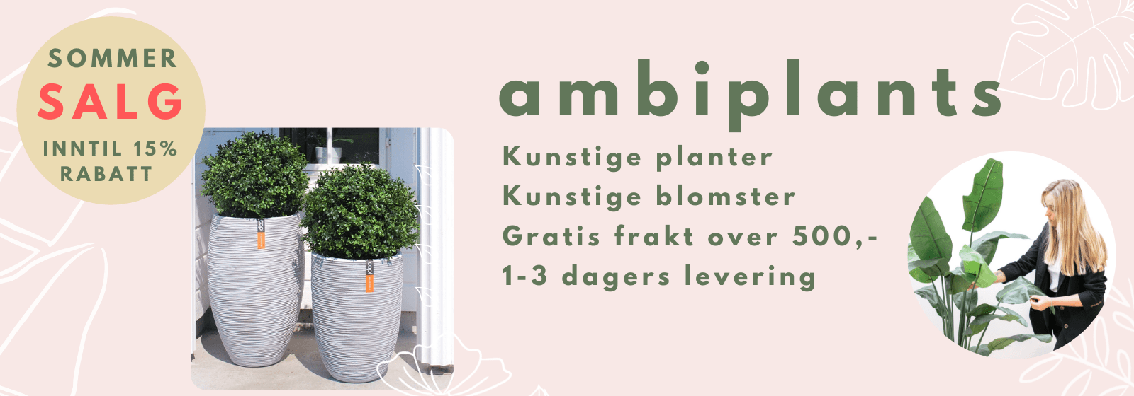 Alt innen kunstige planter - Høy kvalitet og gratis frakt