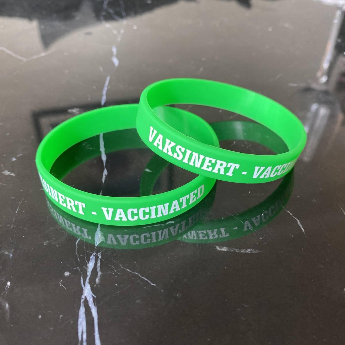 Jeg er vaksinert-bånd 10 stk