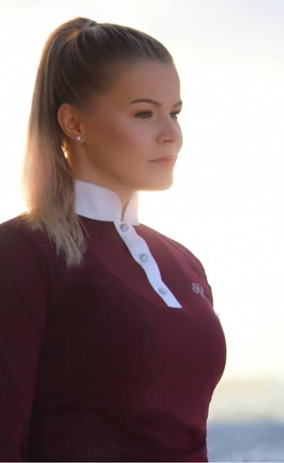 Bilde av Miranda stevneskjorte burgunder