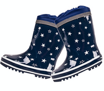 Maximo Gummistøvel med vinterfor stjerner