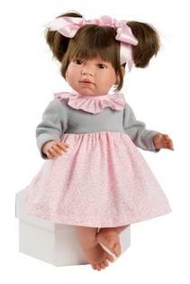ASI Noor 46 cm  Rosa og grå kjole