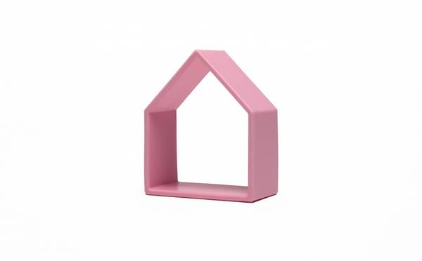 Bilde av Hus og figur -  Rosa