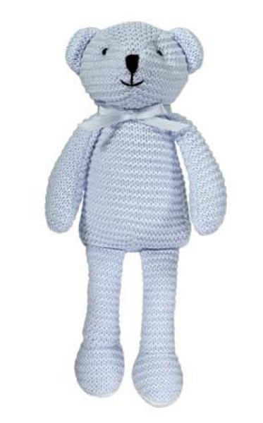 Bilde av Maximo strikket bjørn blå
