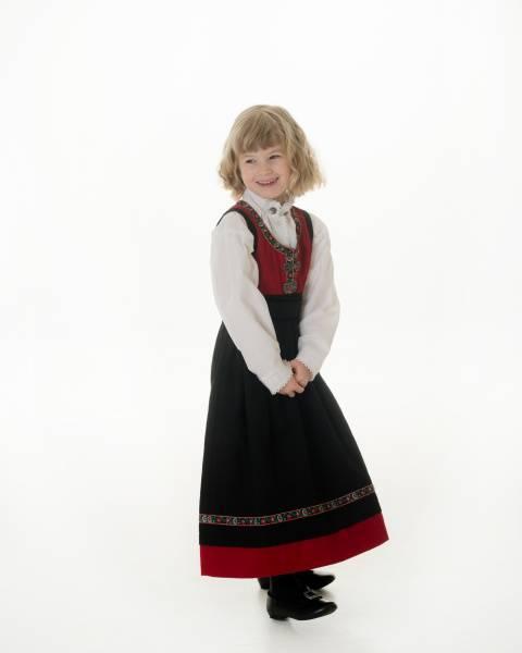 Bilde av Festdrakt jente rød