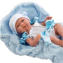 ASI Pablo 43 cm  hvit dress med blått teppe