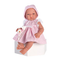 Maria Dukke med rosa kjole