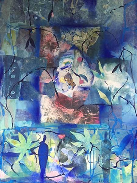 Bilde av Maud Bugge kunstkort BLUE GARDEN