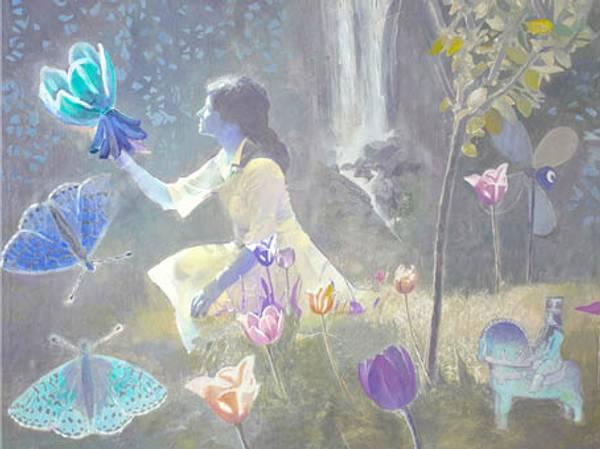 Bilde av Calina Pandele Yttredal kunstkort IN MY GARDEN