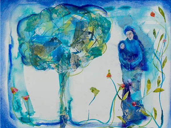 Bilde av Maud Bugge kunstkort THE TREE OF LIFE
