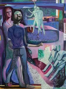 Bilde av Three figures in a revolution kunstkort SVERRE