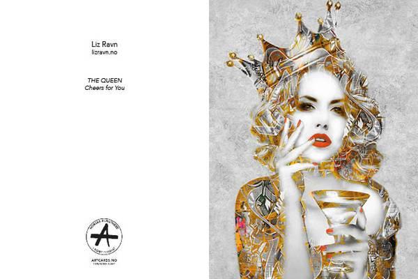 Bilde av LIZ RAVN The Queen, kunstkort