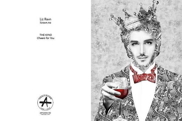 Bilde av LIZ RAVN The King, kunstkort