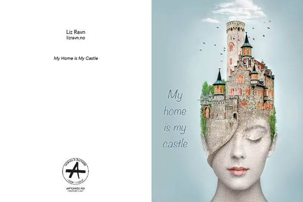 LIZ RAVN My Home is My Castle kunstkort