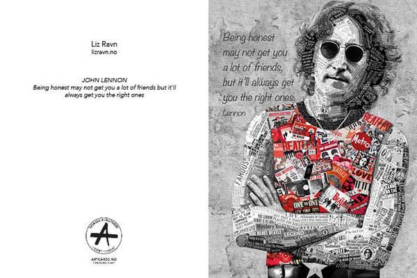 Bilde av LIZ RAVN John Lennon, kunstkort