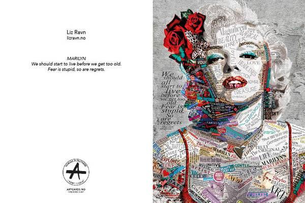 Bilde av LIZ RAVN Marilyn, kunstkort