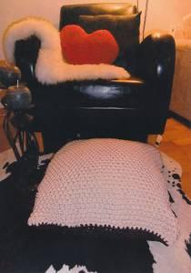 Bilde av 037 Strikket sittepute i to