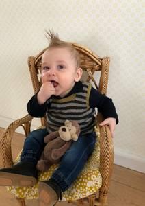 Bilde av 4401 Stripet Babyvest i