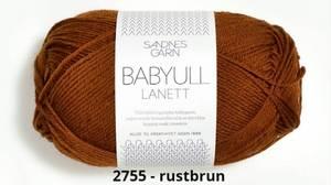 Bilde av Babyull Lanett 2755 Rust brun