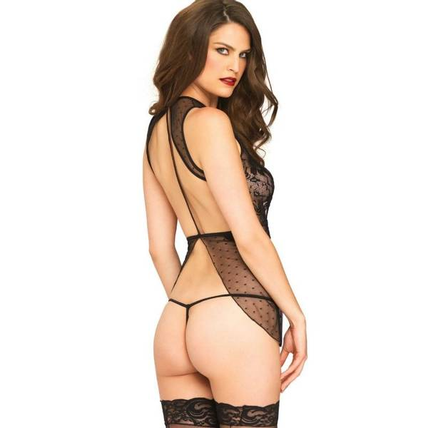 BACKLESS BABYDOLL AND STRING