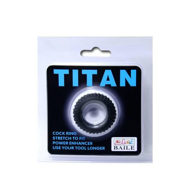 TITAN COCKRING BLACK 2CM
