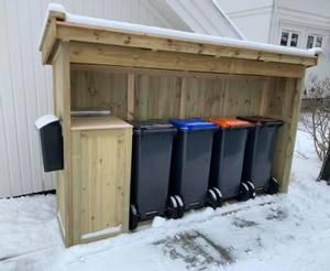 Bilde av Søplekasseskur