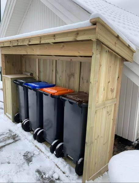 Søplekasseskur -bestillingsvare