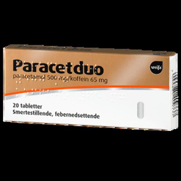 Bilde av Paracetduo 500/65 mg 20 tabletter