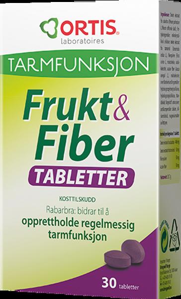 Bilde av Frukt & fiber 30 tabletter