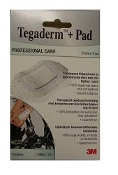 Bilde av Tegaderm + pad vanntett kompress 5 x 7 5 stk