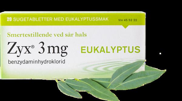 Bilde av Zyx 3mg eukalyptus 20 sugetabletter